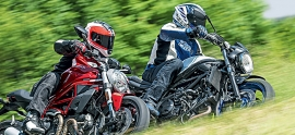 Ducati Monster 797 vs Suzuki SV 650