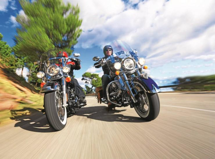 Harley-Davidson Heritage Softail Classic i Indian Chief Vintage