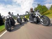 H-D V-Rod Muscle, Honda Gold Wing F6C, Suzuki Intruder M 1800 R Black Edition i Triumph Rocket Roadster