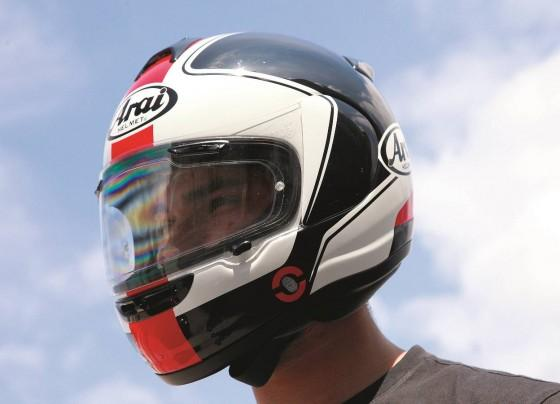 Test kasku Arai Axces II Stage
