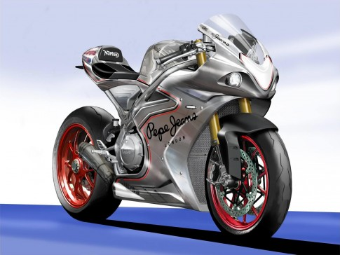 Szkic Norton superbike
