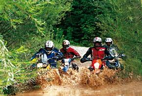 BMW F 800 GS, YamahaWR 250 R, KTM 690 Enduro, BMW R 1200 GS