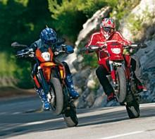 KTM 990 Supermoto vs DUCATI Hypermotard 1100