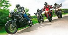 Power nakedy - BMW K 1300 R, Buell 1125 CR, KTM 990 Super Duke, Triumph Speed Triple