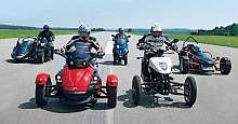 Brudeli Leanster 654L, Can-Am Spyder Roadster SE5, Piaggio MP3 400 IE, Suzuki B-King z wózkiem bocznym, Ruko RX